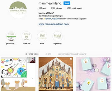 Mamme a Milano Instagram