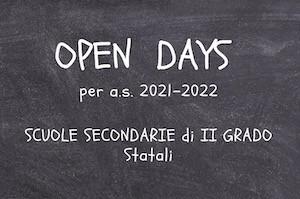Open day scuole superiori II grado Milano